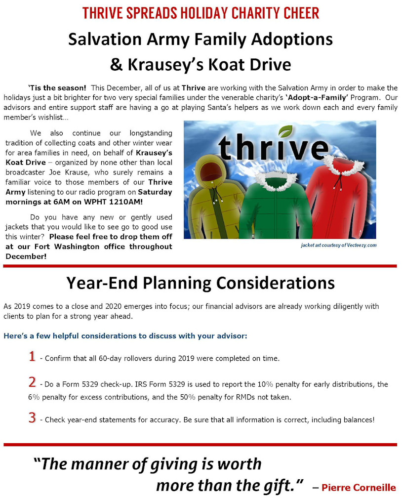 Thrive Monthly December 2019