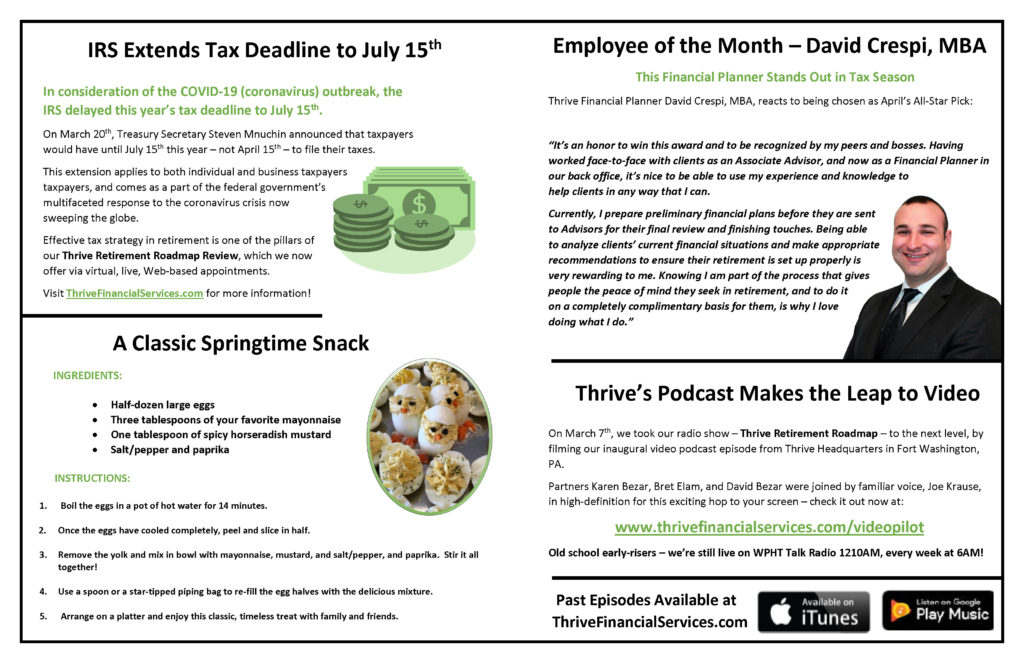 Thrive Times - April 2020